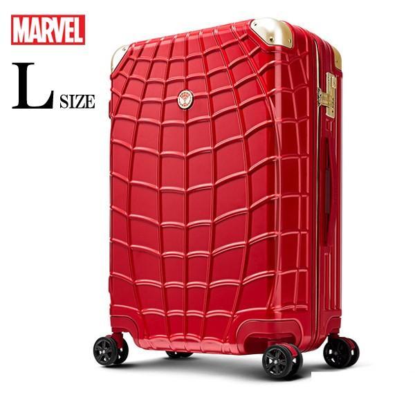 マーベル スパイダーマン スーツケース 赤 Lサイズ 長期旅行 留学 海外 MARVEL SPIDERMAN アメコミ キャラクター|tabinoselectshop