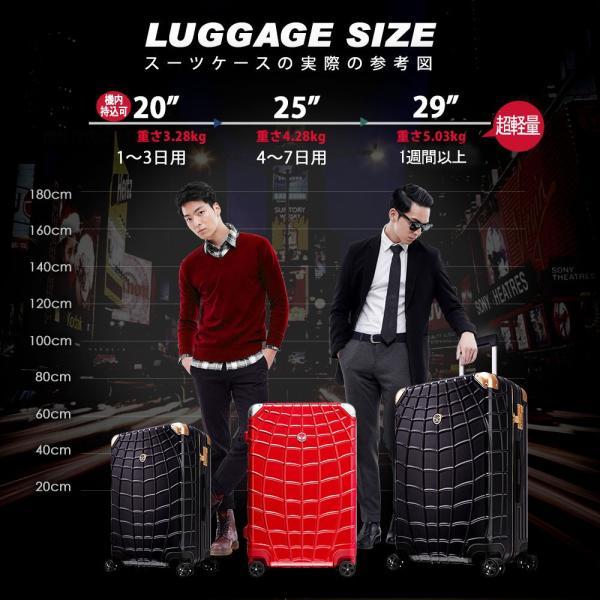マーベル スパイダーマン スーツケース 赤 Lサイズ 長期旅行 留学 海外 MARVEL SPIDERMAN アメコミ キャラクター|tabinoselectshop|14