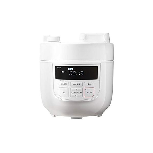 siroca 電気圧力鍋 SP-D131 ホワイト圧力/無水/蒸し/炊飯/スロー調理/温め直し/コンパクト tabito-haruru-store 09