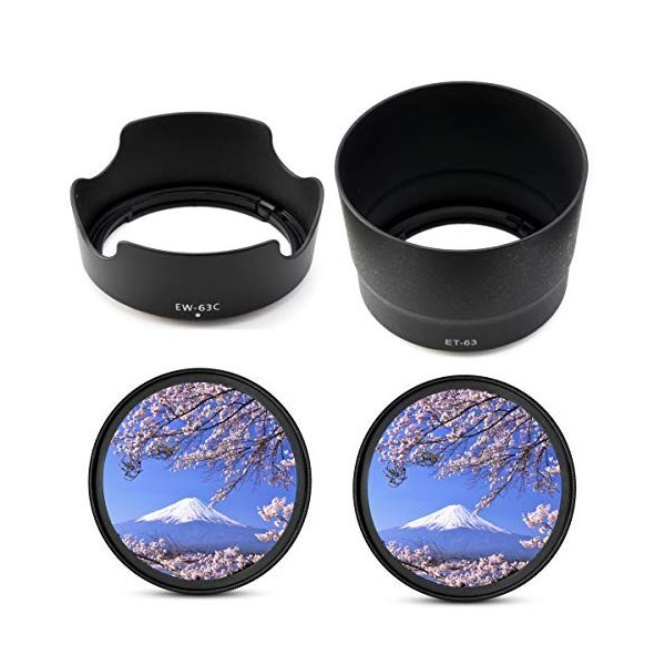 Canon EOS Kiss X10 X9i X9 X8i X7i ダブルズームレンズキット用 互換 レンズフード EW-63C ET-63 tabito-haruru-store 08
