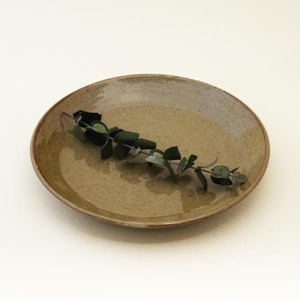 常陸窯いそべ陶苑 プレート Φ24 灰釉(RF) 笠間焼 Kasama Pottery tabitote