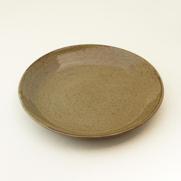 常陸窯いそべ陶苑 プレート Φ24 灰釉(RF) 笠間焼 Kasama Pottery tabitote 02