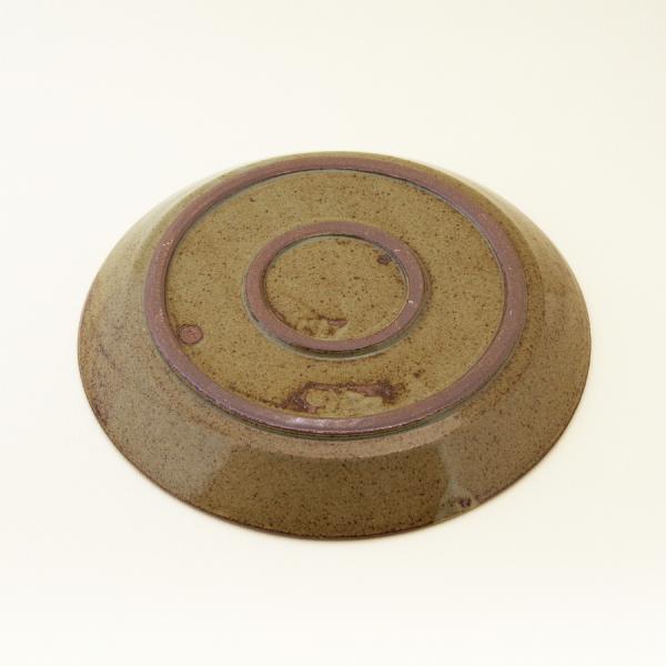 常陸窯いそべ陶苑 プレート Φ24 灰釉(RF) 笠間焼 Kasama Pottery tabitote 03