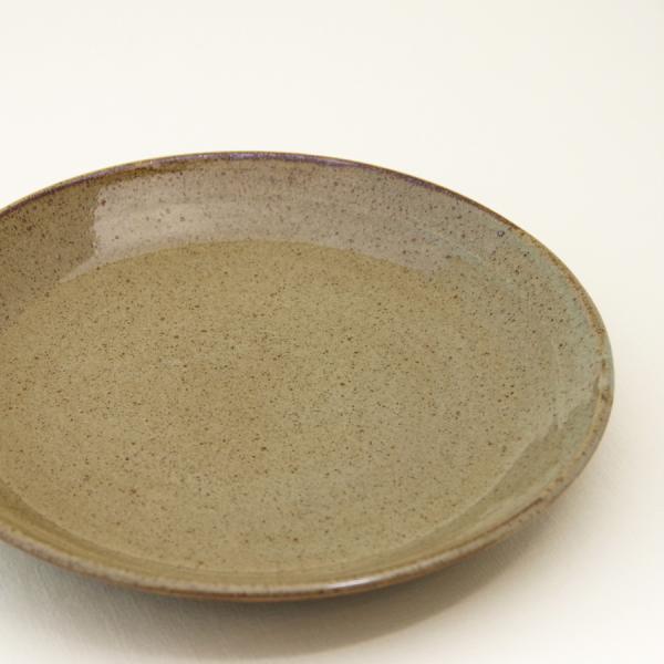 常陸窯いそべ陶苑 プレート Φ24 灰釉(RF) 笠間焼 Kasama Pottery tabitote 05