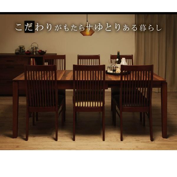 ダイニングテーブル 伸縮 7点 ハイバックチェア 〔テーブル/幅120〜150〜180cm+チェア6脚〕 6人用|table-lukit|12