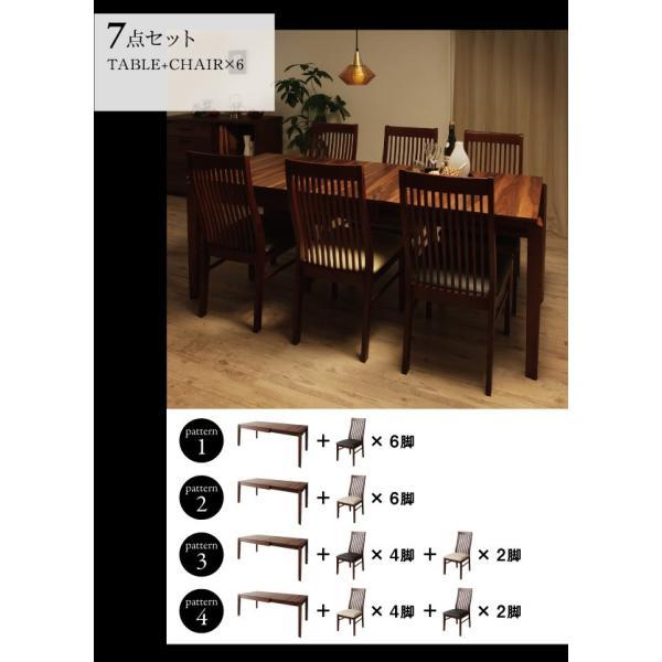 ダイニングテーブル 伸縮 7点 ハイバックチェア 〔テーブル/幅120〜150〜180cm+チェア6脚〕 6人用|table-lukit|14