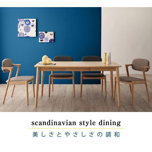 ダイニングテーブルセット 4人用 5点セット 〔引き出し付きテーブル幅150cm+チェア4脚〕 北欧スタイル|table-lukit|17
