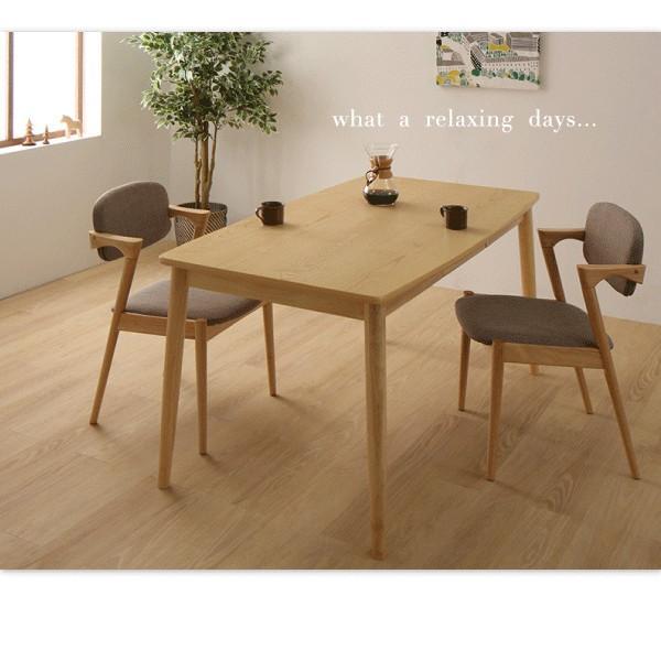 ダイニングテーブルセット 4人用 5点セット 〔引き出し付きテーブル幅150cm+チェア4脚〕 北欧スタイル|table-lukit|09
