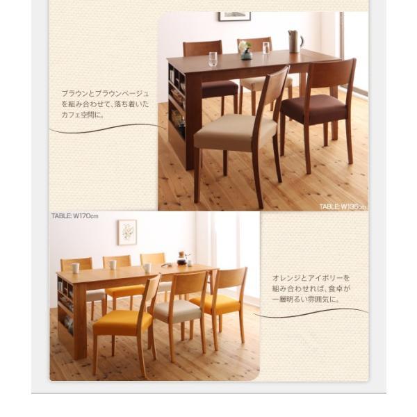 ダイニングテーブルセット 6人用 3点セット 〔伸縮式テーブル幅135〜170cm+3人掛けベンチ2脚〕 収納付きテーブル|table-lukit|12