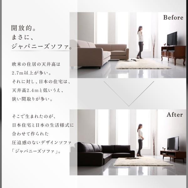 ローソファー 3人掛け 合皮レザー 〔3P/ハイタイプ〕|table-lukit|03