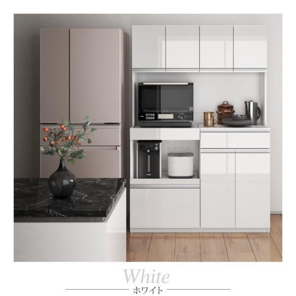 食器棚 鏡面 キッチンボード コンセント付き 大容量収納 〔幅120.5×奥行48.5×高さ180cm〕|table-lukit|16