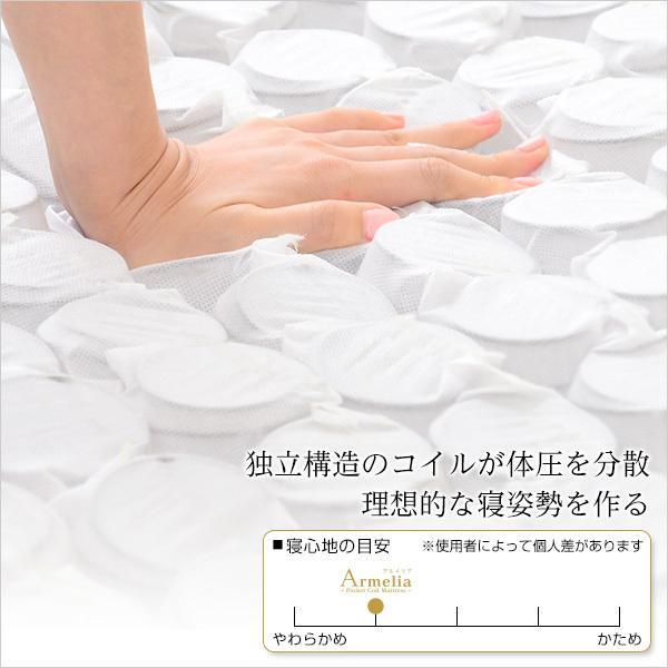 マットレス シングル 薄型 ポケットコイルスプリング 〔ロール梱包 シングル〕|table-lukit|03
