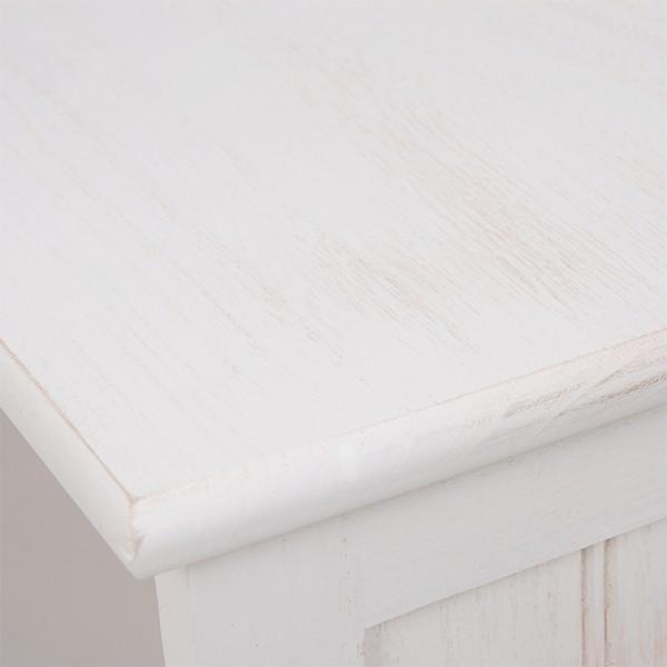 テレビ台 シャビーシック 〔幅94cm×高さ40cm/20型〜32型対応〕 テレビボード ホワイト アンティーク塗装 天然木 〔完成品〕|table-lukit|15