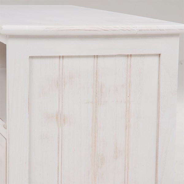 テレビ台 シャビーシック 〔幅94cm×高さ40cm/20型〜32型対応〕 テレビボード ホワイト アンティーク塗装 天然木 〔完成品〕|table-lukit|16