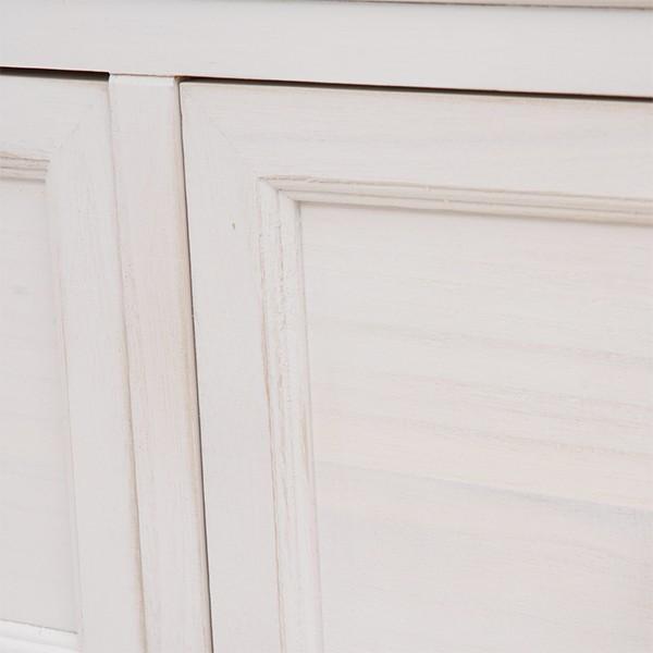 テレビ台 シャビーシック 〔幅94cm×高さ40cm/20型〜32型対応〕 テレビボード ホワイト アンティーク塗装 天然木 〔完成品〕|table-lukit|18