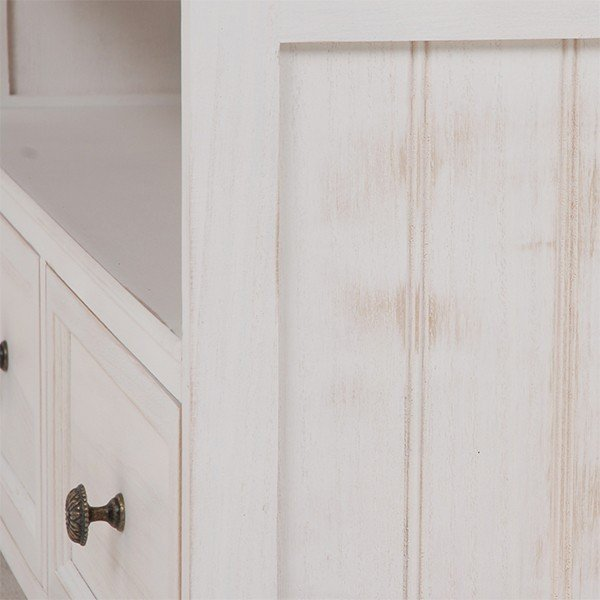 テレビ台 シャビーシック 〔幅94cm×高さ40cm/20型〜32型対応〕 テレビボード ホワイト アンティーク塗装 天然木 〔完成品〕|table-lukit|20