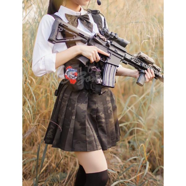 武装JK Multicam Black コンバット プリーツスカート マルチカムブラック セーラー服|tac-zombiegear