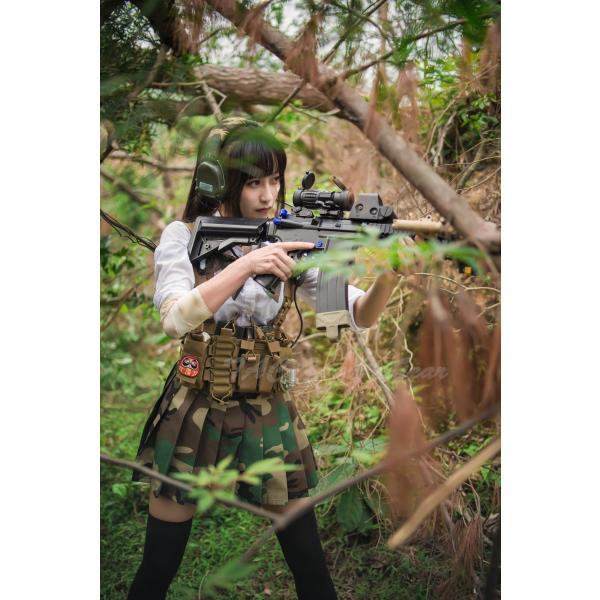 武装JK コンバット プリーツスカート /Woodland|tac-zombiegear|08