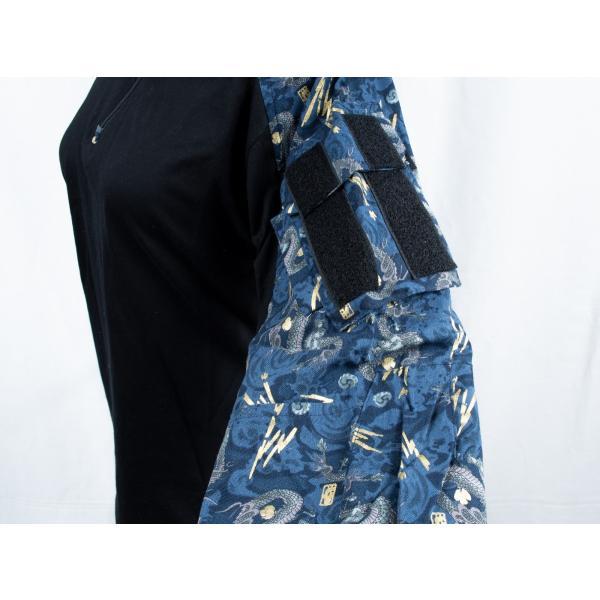 龍柄 コンバットシャツ /  男女兼用|tac-zombiegear|04