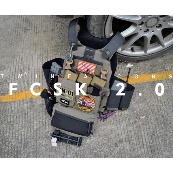 プレートキャリア FCSK2.0 Low Profile Vest/BK・RG|tac-zombiegear|03