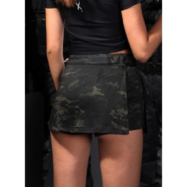 「Iron Wall Guardian」ショートパンツ&キュロットスカート/マルチカムブラック|tac-zombiegear|02