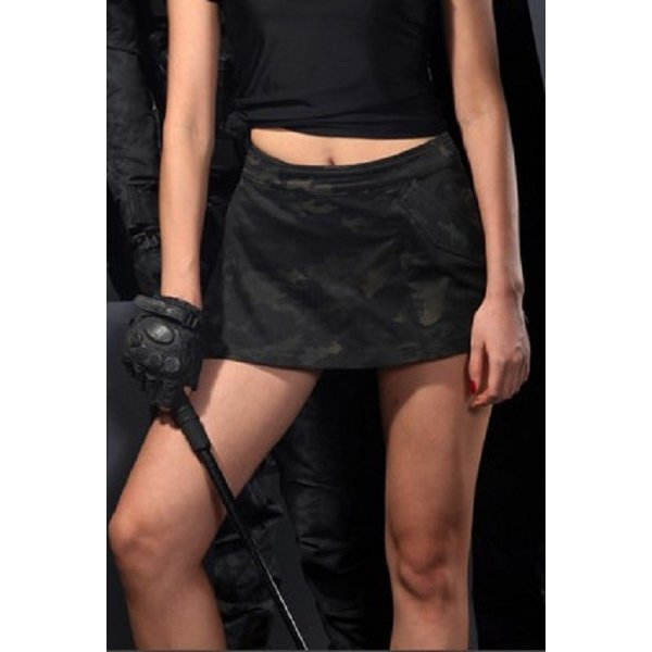「Iron Wall Guardian」ショートパンツ&キュロットスカート/マルチカムブラック|tac-zombiegear|03