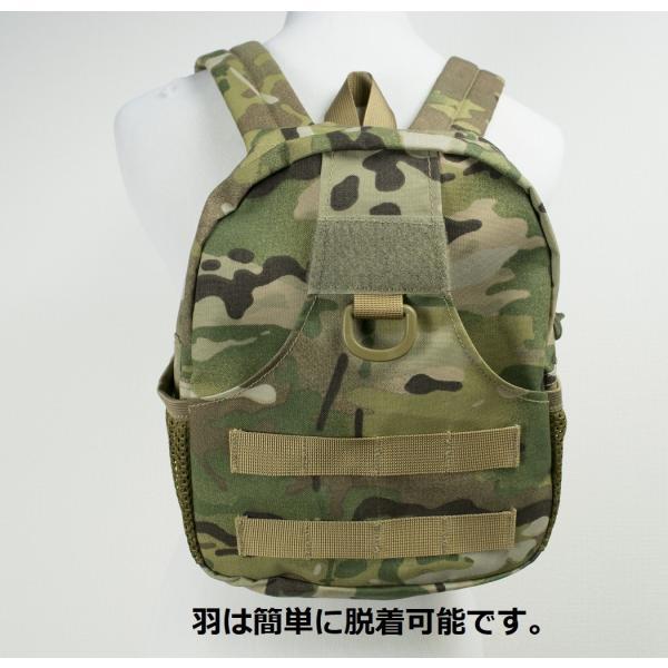 「Little Bat Backpack」 可愛い迷彩リュック 羽付き マルチカム|tac-zombiegear|11