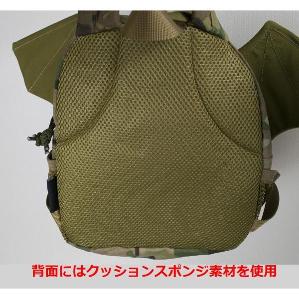 「Little Bat Backpack」 可愛い迷彩リュック 羽付き マルチカム|tac-zombiegear|10