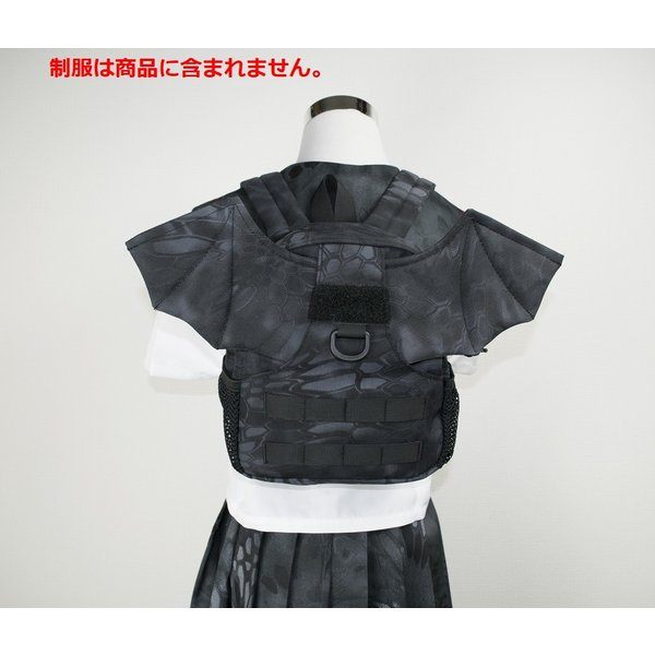 「Little Bat Backpack」 可愛い迷彩リュック 羽付き Typhon|tac-zombiegear|11