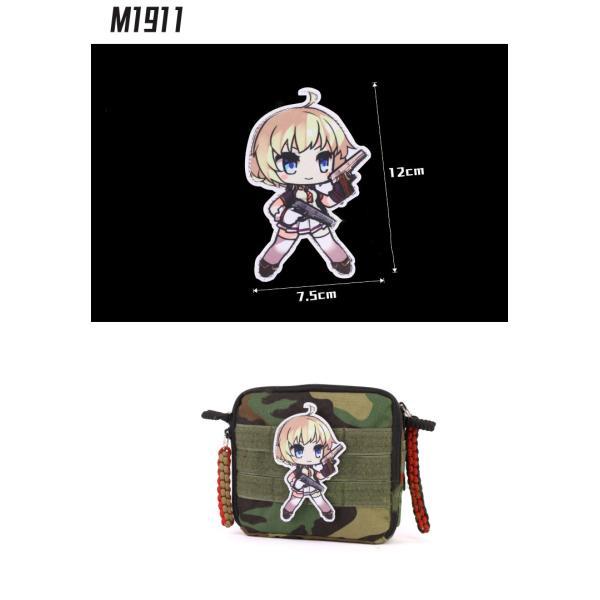 【ポスト投函商品】M1911ワッペン/少女前線 ドールズフロントライン風|tac-zombiegear|02