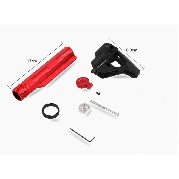 STRIKE INDUSTRIESタイプ Pit + Advanced Receiver Extension / Black-Red|tac-zombiegear|09