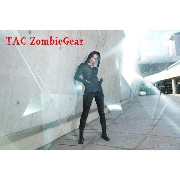 レディース用カモフラージュパンツ マルチカムブラック tac-zombiegear 06