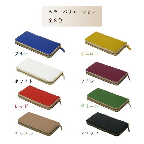 【送料無料】シュリンク革 ラウンド長財布 日本製本革|tackcraft|05