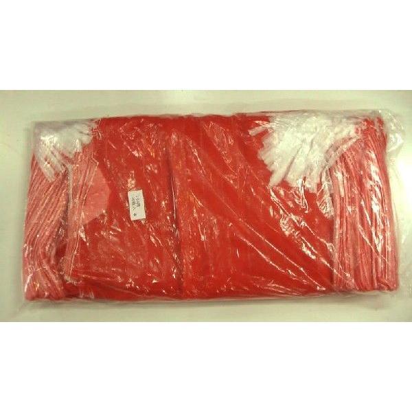 玉ねぎネット (取手付) 20kg 用 (100枚入) 約42×83cm 赤ネット 野菜袋 出荷袋ネット 野菜ネット 玉葱ネット モノフィラネット メリヤスネット hori (zsロ)