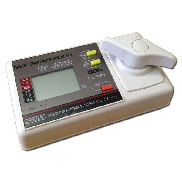 米麦水分計 モイスター TD-6 オガ電子 デジタル 米麦水分測定器 穀物用水分計 (zmK4)