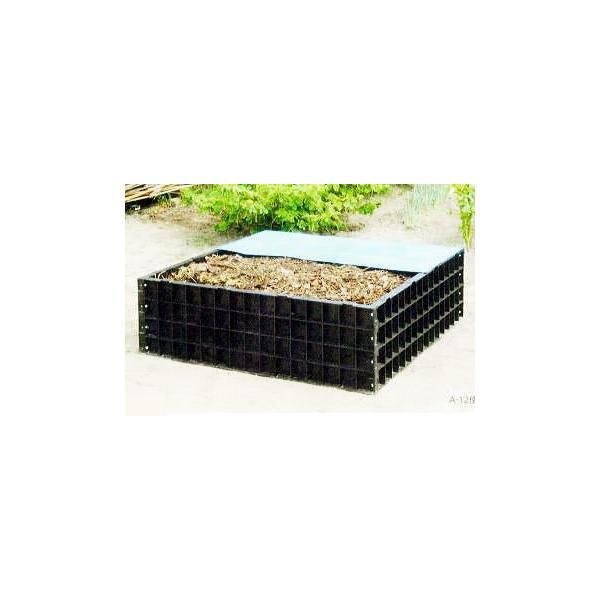 堆肥ワク A-12 550L (堆肥枠) 124×124×H40cm (法人個人選択) サンポリ