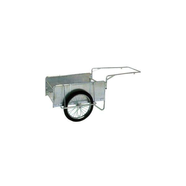アルミ製 折りたたみ式リヤカー ハンディキャンパー NS8-A1S 側板付ノーパンクタイヤ yua