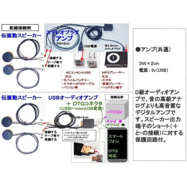 超小型アンプ 3W×2ch ステレオプラグアンプ USBコネクタ電源 BOX状版|tafuon|04