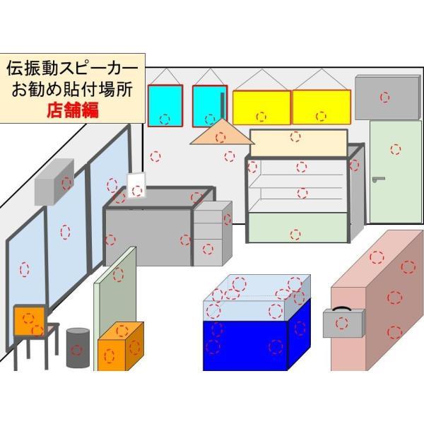 伝振動スピーカー&Bluetoothアンプ(電池仕様)  壁板や窓がスピーカーになる 貼替簡単×小型大音量|tafuon|11