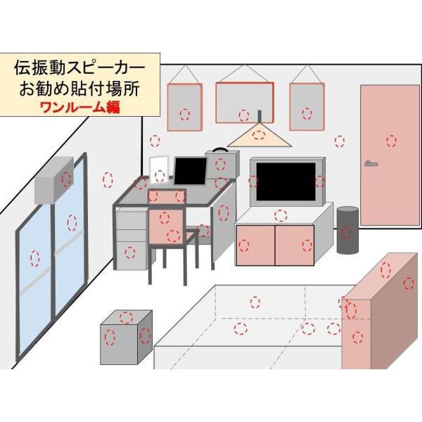伝振動スピーカー&Bluetoothステレオアンプ(USBコネクタ電源仕様)  壁板や窓がスピーカーになる 貼替簡単×小型大音量|tafuon|09