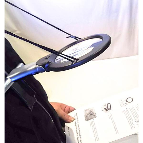 2倍に6倍付手持ちルーペ スタンドルーペ 首掛け拡大鏡ハンズフリー LEDライト付き