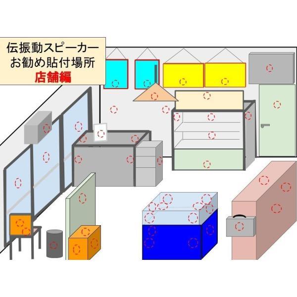 伝振動スピーカーBluetoothBOX(USBコネクタ電源仕様)  壁板や窓がスピーカーになる 貼替簡単×小型大音量 tafuon 08