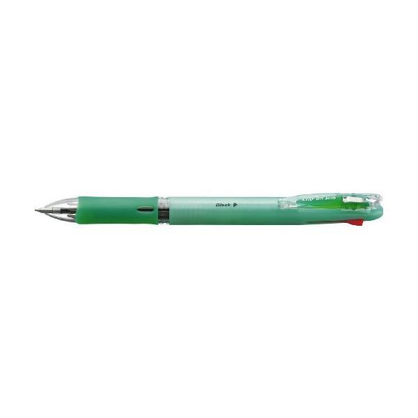 油性ボールペン クリップ-オン スリム 4C [黒/赤/青/緑] 0.7mm パステルグリーン B4A5-WG