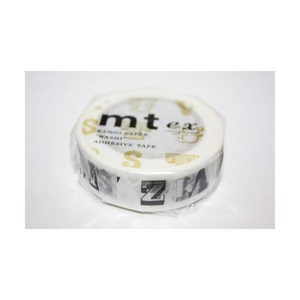マスキングテープ mt ex 1p ab アルファベット・黒  x  mtex1p01 カモ井加工紙 4971910178928