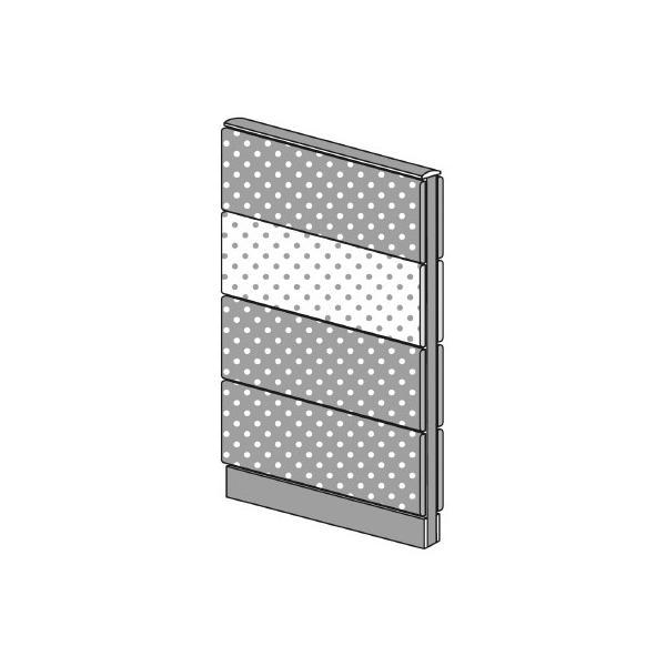 PLUS(プラス)オフィス家具 LFパネル(PET再生クロス) 全面クロスパネルセット パネル4段 H1325 W(幅)700 D(奥行き)60 H(高さ)1325