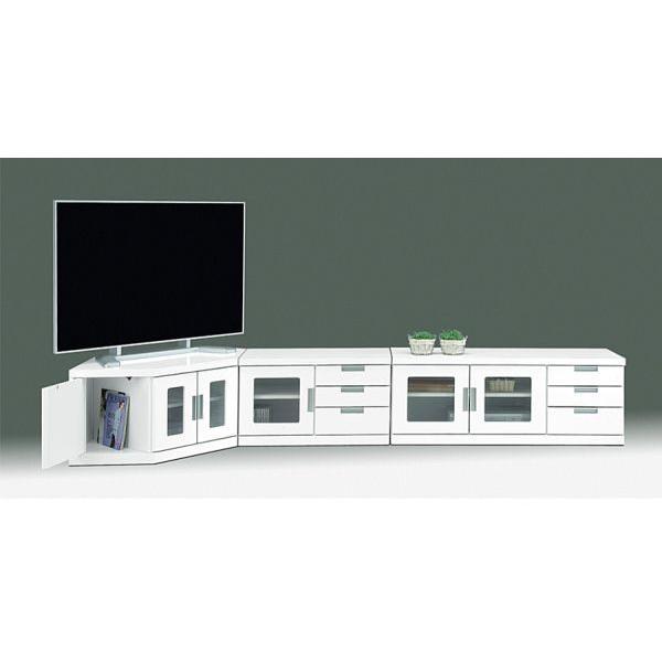 テレビボード リビングボード 開き戸タイプ 150cm ウィル(ホワイト/白)|taiho-kagu|02