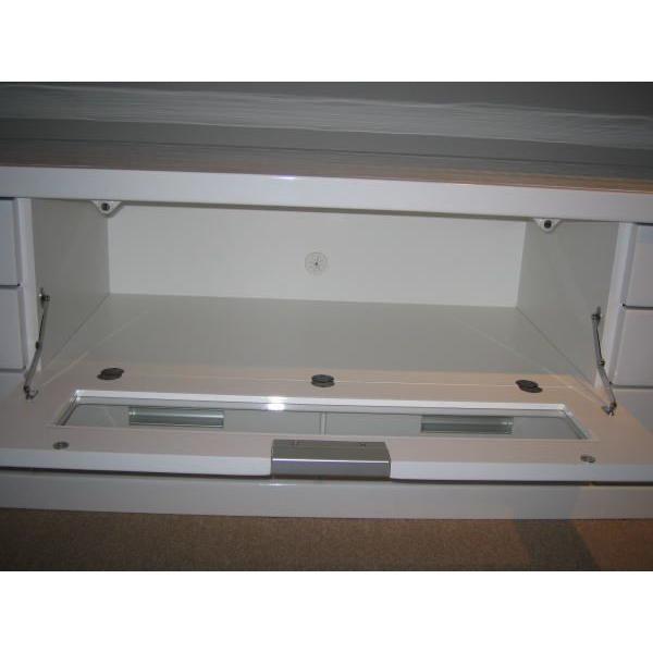 テレビボード リビングボード 開き戸タイプ 150cm ウィル(ホワイト/白)|taiho-kagu|05