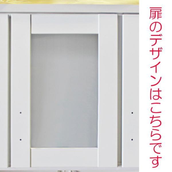 食器棚 国産 【アウトレット】 レンジ台 国産 完成品 開き戸 幅105cm ロータス2 (ホワイト/白)|taiho-kagu|05