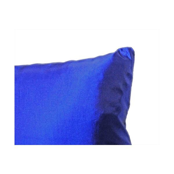クッションカバー 45×45cm 対応 絹 おみやげ アジアン 海外 雑貨 / タイ シルク クッション カバー リング デザイン ブルー 青|taikokuya|03