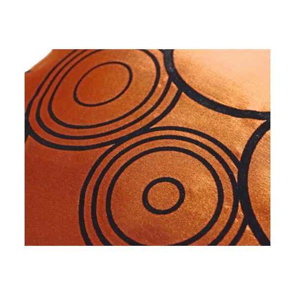 クッションカバー 45×45cm 対応 絹 おみやげ アジアン 海外 雑貨 / タイ シルク クッション カバー リング デザイン ブロンズ 銅|taikokuya|02